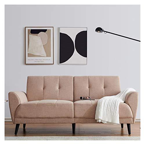 Möbel Wohnzimmer Schlafsofa 2 Seater Leinengewebe for Dorm Schlafzimmer Büro-Empfangsraum Modernen Doppelsitzer Sofa Compact Sofa Padded Leinen Holz Leg Größe 71'L x 29' W X 33.5' H. (Color : A)