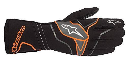 AS 3551820 Alpine Stars 2020 TECH-1 KX V2 Handschuhe für Karting Racing Go-Kart, Schwarz/Orange Fluo, X Large (22.9-24.1cm)
