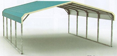 Eagle Regular Style All Steel Carport Cover (width,height,length) 24' x 21' x 6' (9' center clearance)