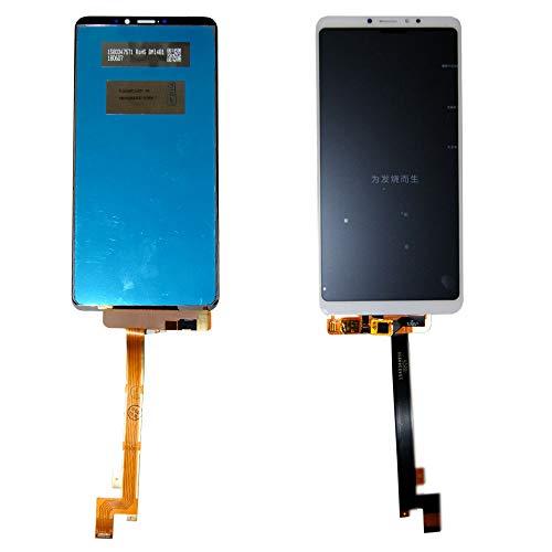 Wigento Für Xiaomi Mi MAX 3 Reparatur Display LCD Komplett Einheit Touch Weiß Ersatz