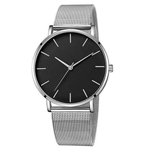 Herren Uhren,Pottoa Mode Klassisch Lederband Analoge Led Armbanduhr Herren Uhren Automatik Herren Uhren Herrenuhr Lederarmband Quartz Uhr