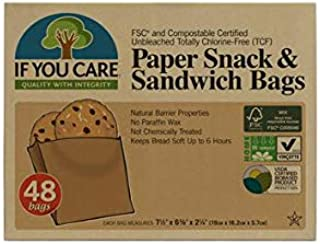 IF YOU CARE Unbleached Sandwich Bags, 48 Count