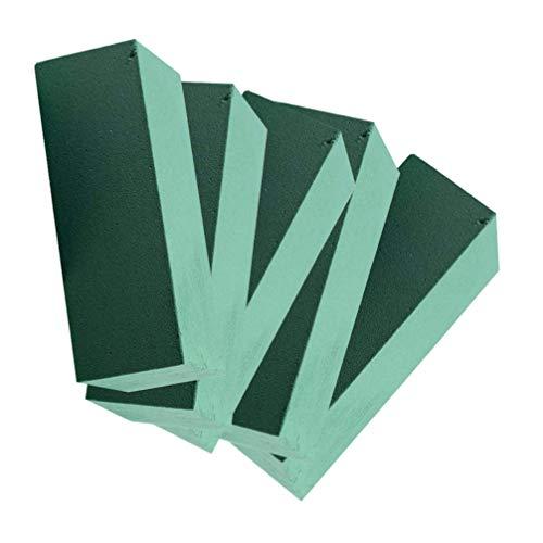 Vosarea Mattoni di Schiuma Floreale Spugna per Fiori Verde da Fiorista per Composizione Floreali Artificiali Fai da Te