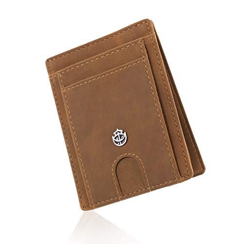 Noah Noir Slim Wallet mit Magnet und Münzfach (9 Kartenfächer) Geldbeutel Männer (Dolphin)