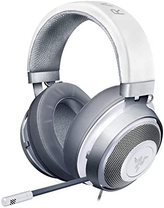 Razer Kraken Mercury Gaming Headset with Cooling Gel Earpads for Ambitious Gamers White product image