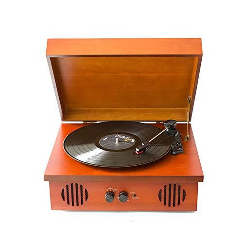 Feixunfan Tocadiscos Reproductor De Vinilo Grabación De Vinilo Grabación De Audio Fonógrafo Portátil Jugador De Registro para Discos de Vinilo (Color : Photo Color, Size : 40x33x17cm)