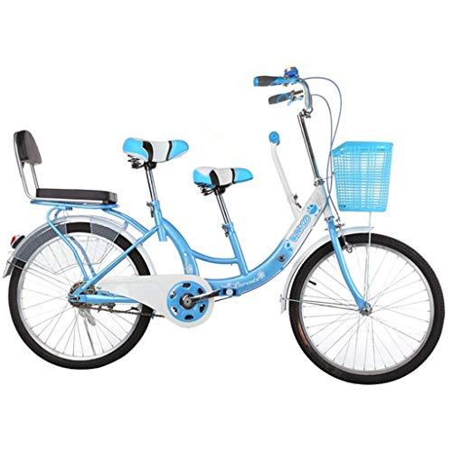 BOC Eltern-Kind-Fahrrad Mutter und Kind Auto Doppel Männer und Frauen Typ Transfer mit Kinderfahrrad, Grün, B,Blau,B