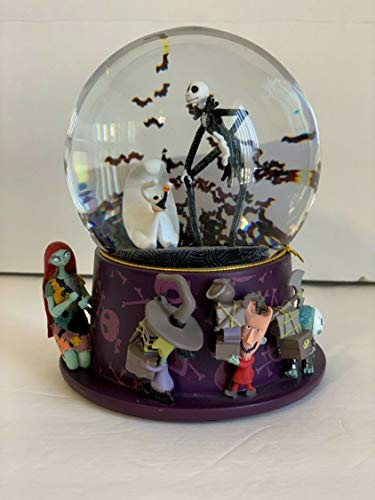 Disney Parks Nightmare Before Christmas Jack and Friends Sculpted Snowglobe (Christmas Snowglobe)