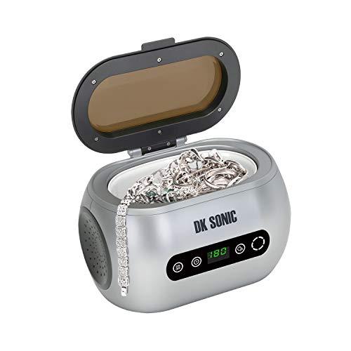 DK SONIC Digital Household Ultraschallreinigungsgerät 600mL 42KHz Ultraschallreiniger mit Touch Control für Schmuck Münzen Eyewear Wasserdichte Uhren Rasiermesser Zahnersatz Werkzeug