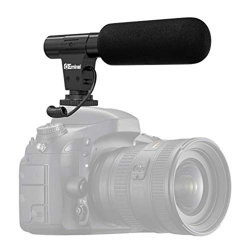 Camera Microphone, Emiral Video Microphone for DSLR Interview with +20db Enhancement, 3.5mm Jack, for Canon Nikon Sony Panasonic Fuji