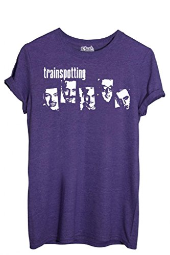 T-SHIRT TRAINSPOTTING FACES - MOVIE by MUSH Dress Your Style Uomo-XXL