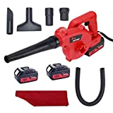 Best Leaf Vacuums - King showden Cordless Leaf Blower, 18V Electric Powerful Review
