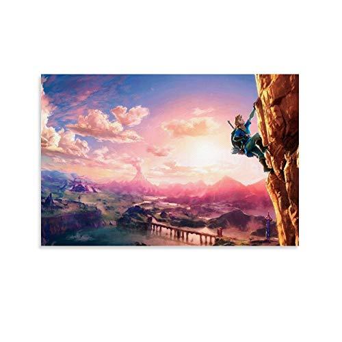 heshunxing Zelda Breath of the Wild Poster Cuadro decorativo Lienzo decorativo para pared de sala de estar carteles dormitorio pintura 30 x 45 cm