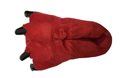 Halloween Costume House Shoes Cozy Slip On Bear Paw Slippers Red L