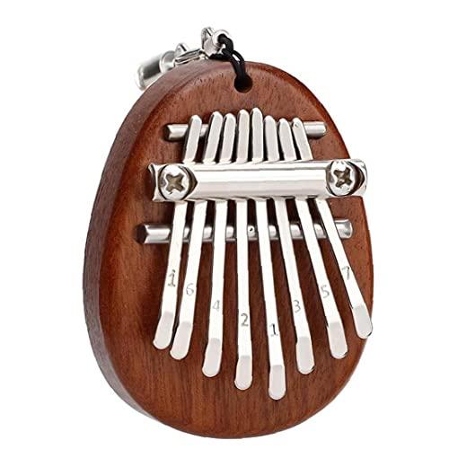 Mini Kalimba Trä Finger Piano med Tuning Tool och bruksanvisning, bärbar African Wood Musikinstrument, Thumb Piano Set, för barn vuxna nybörjare Professionals