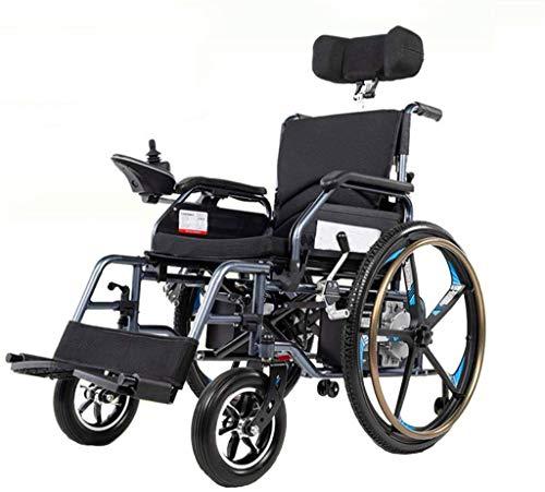 Elektrorollstuhl Rollstuhl, Stuhl Heavy Duty elektrisch betriebenen Rollstuhl for Erwachsene, zugelassen for Flugreisen, Folding Motorisierte Rollstuhl for Innen und Aussen Motorisierte Rollstuhl Bequ