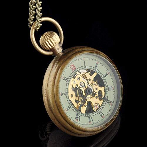 FZYE Reloj de Bolsillo Collar mecánico de Cobre Colgante de Cuarzo analógico para Mujer