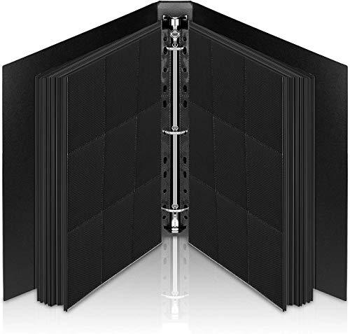Lictin Raccoglitore Carte Maniche Nero - Album Trasparente Impermeabile con 540 Tasche per Carte da Gioco - 30-Pagina Nera Raccolta Carta Libro