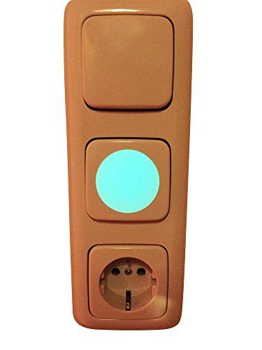 Luz adhesivo para interruptor de luz, luz pegatinas, 16 puntos, luminosos en la oscuridad, larga luminosidad, diámetro de 4 cm