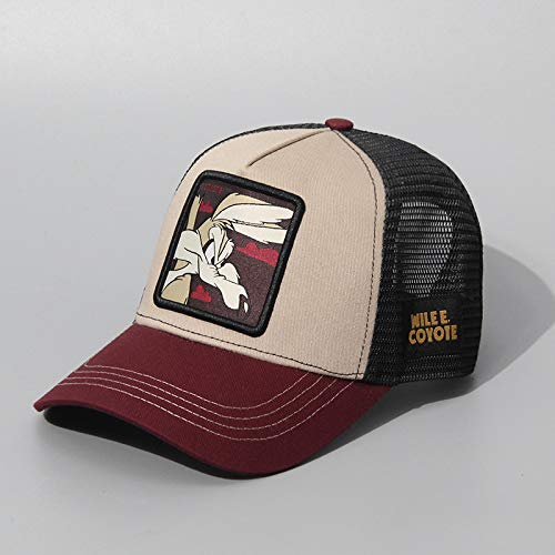 sdssup Explosión Dragon Ball Animal Hat Europa y América Gorra de béisbol Marca Tide Cartoon Series Dragon Ball Cap Net Hat Fertile Rabbit 1 Ajustable