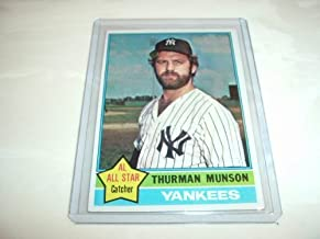 1976 Topps Baseball Card #650 Thurman Munson