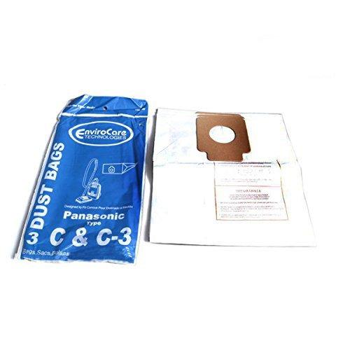 Panasonic Typ C & C Kanister 3000mAh von Ersatz Papier Staubbeutel 3pk # 108sw