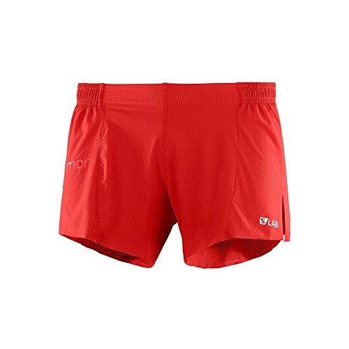 SALOMON S-Lab Short 4 M Short pour Homme Rouge (Racing Red)