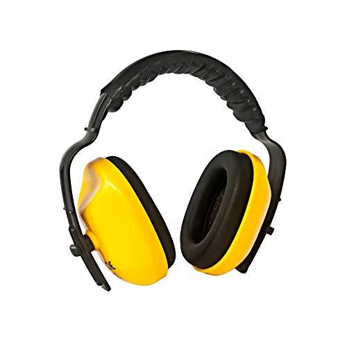 Casque Anti Bruit Protection Auditive Compact avec Bandeau Ajustable pour Enfants et Adultes, Réduction du bruit SNR 25,5 dB Normes CE EN 352-1, Dormir, Etudier, Concert,Voyager, jardinage - Jaune