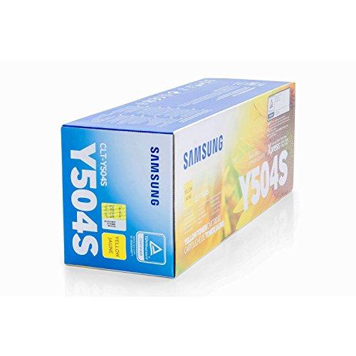 1x Original Toner Samsung CLT-Y504S Xpress C 1860 FW - Yellow - Leistung: ca. 1800 Seiten -
