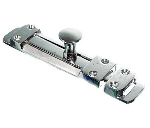 Bulk Hardware BH02042 Hochbelastbar Schubriegel 150 mm, Verchromt, Weiß