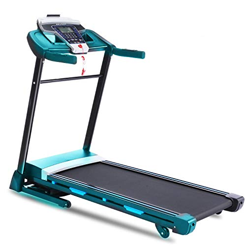 ANCHEER Folding Treadmill, Fitness Electric Treadmill with Incline, Bluetooth Speaker and LCD Display, Motorized Running Walking Machine for Home Office Use, Easy Assembly,300 LBS Max