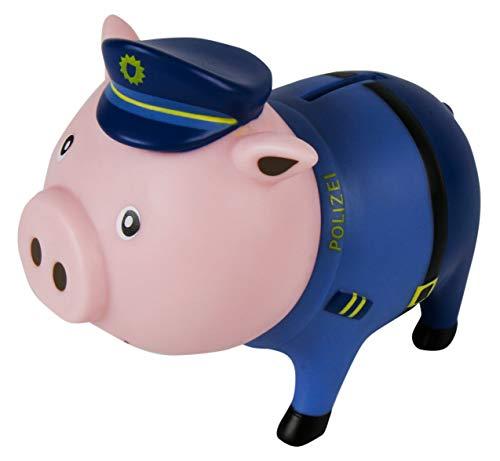MIK Funshopping Spardose Sparschwein - Ideal zum Sparen oder als Geldgeschenk-Verpackung (Polizist)