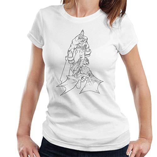 Cloud City 7 Demitri Maximoff and Morrigan Aensland Darkstalkers Women's T-Shirt