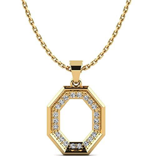 Moncoeur Cheryll dameshalsketting van 9K 375 geelgoud – 22 zirkoniastenen 1 mm – edele gouden ketting met zirkonia – perfect cadeau voor een vrouw met stijl – premium gouden sieraden + luxe etui