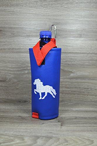 Flaschenhalter Tölter Islandfarben mit Thermoschicht *UNIKAT* Kunstleder