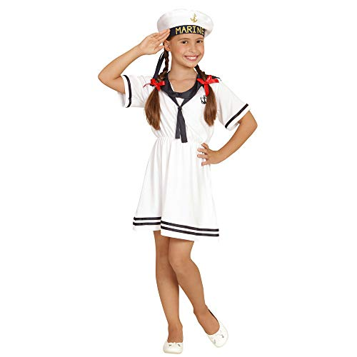Widmann 03098 ? Enfants Costume Sailor Girl, Robe et Chapeau