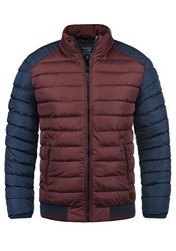 Blend Gallus Herren Winter Jacke Steppjacke Winterjacke gefüttert mit Stehkragen, Größe:XL, Farbe:Wine Red (73812)
