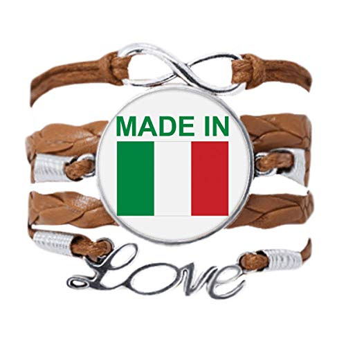 DIYthinker Made In Italy Country Love Bracelet Love Chain Rope Ornament Wristband Gift