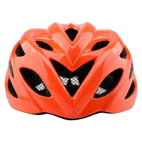 RH-HPC Fahrradhelm Helm Fahrradhelm Sicherheit im Freiensport-Schutz MTB Fahrradhelm 54-62cm EPS Rennrad Helme for Männer Frauen (Farbe: Gelb-Free) (Color : OrangeFree)