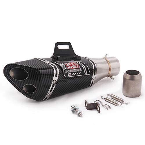 Tubo de silenciador de escape deslizante para motocicleta de 51 mm silenciador de moto de reajuste universal tubo de cola de acero inoxidable scooter modificado piezas de cola para bicicleta tierra