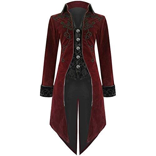 BaZhaHei Uomo Top,Uomo Giacca Vintage Steampunk Uniform Abbigliamento Performante Costume da Festa