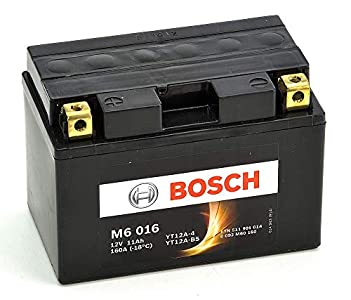 Bosch M6016 Batería motocicleta YT12A-4 / YT12A-BS - 12V AGM 11A/h-140A