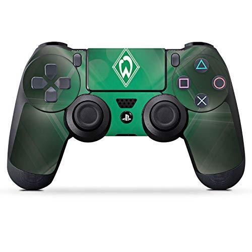 DeinDesign Skin kompatibel mit Sony Playstation 4 PS4 Controller Aufkleber Folie Sticker Offizielles Lizenzprodukt SV Werder Bremen Wappen