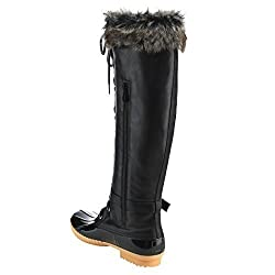 in budget affordable Nature Breeze FF70 Ladies Waterproof Warm Lace-up Boots, Color: Black, Size: 6