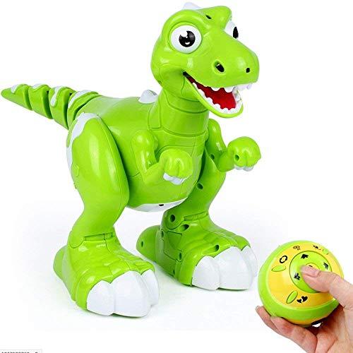 Simulación remota Dinosaurio de Control Rociable con Luces LED Linda Interesante Dinosaurio de Juguete eléctrico Robusto Anti-caída imputable RC Robot Mejor for los niños