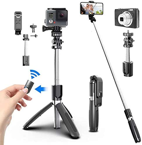 4 In1 Bluetooth Wireless Selfie Stick Tripod Foldable Monopods Universal for Smartphones for product image