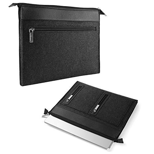 17.3 Inch Laptop Sleeve Case Water Repellent Leather Felt Bag for Alienware 17 Inspiron Pavilion Ideapad Omen GE75 Raider