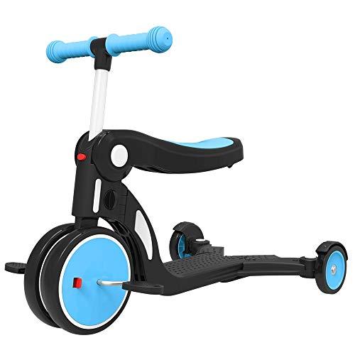 Best Price! ZQY 3 in 1 Children's Scooter Children's Indoor Exercise Bike 1-3-6 Years Old Baby Balan...