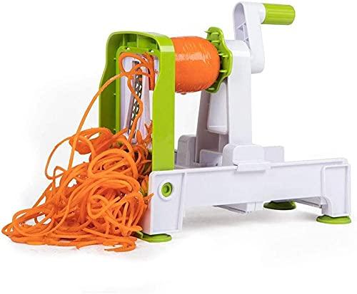 Cortador de espiralizador de verduras con 5 cuchillas más fuerte y más alto veggie Mandoline Spiral Slicer Handheld Veggie Pasta Spaghetti Maker