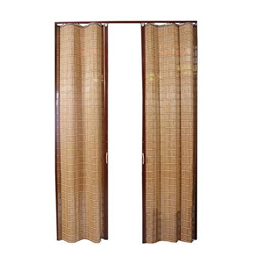 Jcnfa-rolgordijnen, bamboerolgordijnen, snoerloze rolluiken, buitenrolgordijn, 100% UV-bescherming, vouw de schuifdeur naar links en rechts, schaduw zonnescherm